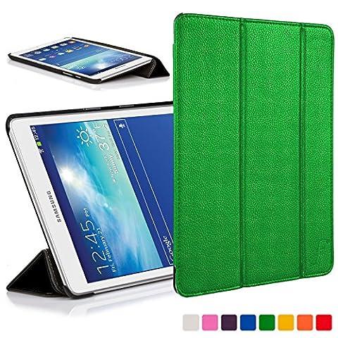 Forefront Cases® Neue Leder Hülle / Tasche / Case / Cover für Samsung Galaxy Tab 3 Lite 7.0 T110 - Rundum-Geräteschutz und intelligente Auto-Sleep-Wake-Funktion mit 3-JAHRES-GARANTIE VON FOREFRONT CASES