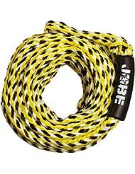 Jobe Six Person Towrope - Cuerda de esquí acuático y deportes de arrastre, color amarillo