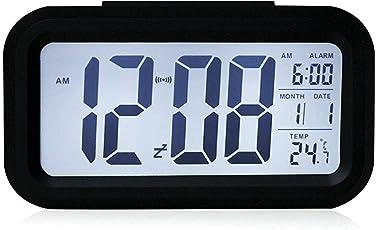 The Aura Nightlights Temperature Battery Operated Optically Controlled Liquid Crystal Alarm Clock (Black)
