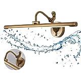 LED Waterdicht IP44 badkamerspiegel wandlamp, 9 W spiegellamp badkamer retro, goud brons zeemeermin spiegelverlichting vintag