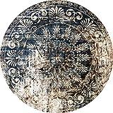 2D-Wandobjekt aus Holz | Mandala | Zeichen | Floral | Retro | Radial | Wandteller | Holzbild | Shabby-Look | Landhaus | Vintage | Holzobjekt | Deko | Holzdruck | Geschenk, Größe:ca. 30x30cm