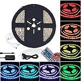 LED Streifen 5M, RGB LED Stripes 5M Wasserdicht IP65 300LEDs Lichtleisten Jandrun Farbwechsel LED Lichtband mit 44 Tasten IR Fernbedienung 12V 5A Netzteil