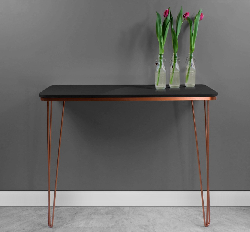 Harnal copper console table white gloss amazon kitchen harnal copper console table white gloss amazon kitchen home geotapseo Image collections