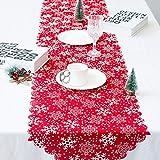 Natale Runner Tovaglia Natalizia Alce per Decorare Casa Cena da Tavola Cucina Stile Vintage Natale Decorazioni,13.77 X 68.89