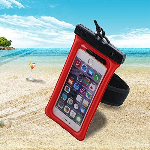 SunnyJenny Custodia Cellulare Impermeabile Universale 6 Pollici Waterproof Cover Case Impermeabile per Apple iPhone 7, 7 Plus,6s / 6, 6s Plus / 6 Plus, SE 5S 5C, Samsung Galaxy S7/S7 Edge/S6/S6 Edge/E rosa