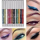 Cdet 12 Couleurs Palette de Fard à Paupière Waterproof Durable mode Makeup Palette Stylo d'ombre à paupières