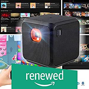 (Renewed) XPRIT Camping Portable Smart Cube Projector with Wi-Fi & Bluetooth, 50 ANSI, Android 7.1, Remote Control Included