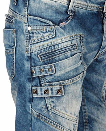 Red Bridge Herren Keep Back Jeans Shorts kurze Hose Blau Blau
