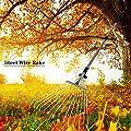 Wetour Garten Laubbesen Mit Edelstahl Stiel 15/9 Zinken Teleskop Laub Rechen, Elastizität Gartenbesen Rasenrechen Gartenzubehör Zum Zusammenfegen Von Laub Oder Grasschnitt