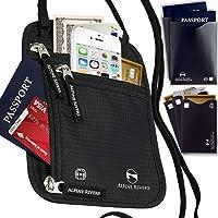 Collo portafoglio porta passaporto e custodia da viaggio RFID + 5Bonus Extra maniche