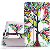 MoKo Google Nexus 7 2013 FHD 2nd Gen Case - Ultra Slim Lightweight Smart-shell Stand Cover Case with Auto Wake / Sleep for Google Nexus 2 7.0 Inch 2013 Generation Android 4.3 Tablet, Lucky TREE