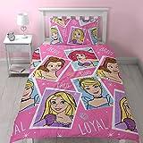 Disney Princess Brave Einzelne Rotary Bettwäsche Set + passende Vorhänge 66 x 72
