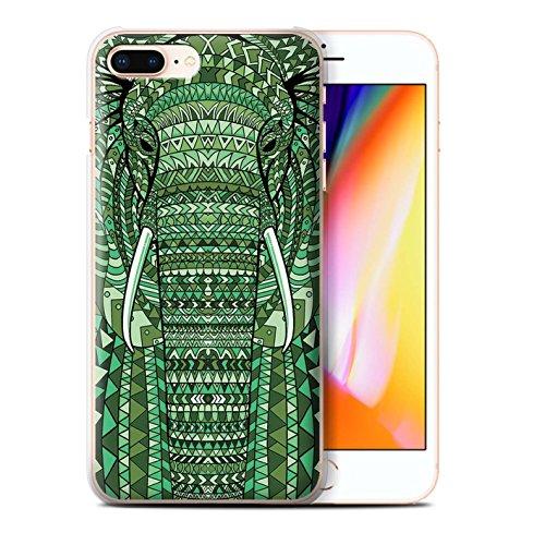 Coque de Stuff4 / Coque pour Apple iPhone 5C / Loup-Bleu Design / Motif Animaux Aztec Collection éléphant-Vert