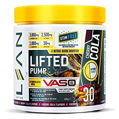 Lean Active Lifted Pump - Stim Free Nitric Oxide Booster - 30 Servings (300G) from Forza Industries