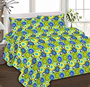 IBed Home Printed bedsheets 3Piece bedding Sets King Size, EAT-4398-BLUE + GREEN