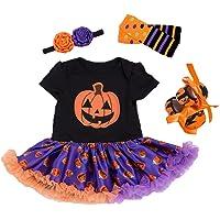 BabyPreg Infant Girl's My First Halloween Outfit Thanksgiving Costume Baby Pumpkin Dress