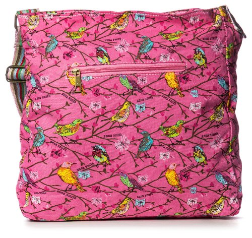 Big Handbag Shop Damen Umhängetasche aus Canvas Kunststoff mit Schmetterling Aufdruck dunkelgrau