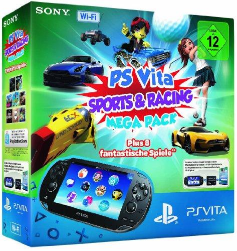 Sony PlayStation Vita (WiFi) inklusive Mega Pack Sports + Racing (Vita Playstation Wifi Bundle)
