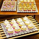 flower205 7 Stüke Tortenständer Kuchenständer aus Hochwertigem Eisen, 3 Etagen Runde Cupcake Standfuß für Süßigkeiten Kekse oder für Obst Geburtstag Hochzeitsfeier - 4