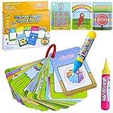 BBLIKE Wasser Zeichnung Doodle,26 Malbrettchen nachfüllbarem Digital Form und Farbe mit 2 Wasser Stifte,Tolles Geschenk Für Kinders