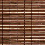 Easy-Shadow Holzrollo Holz-Rollo mit Seitenzug 160 x 170 cm / 160x170 cm in der Farbe braun - Bambus Holz Rollo für Fenster und Tür - Bedienseite rechts