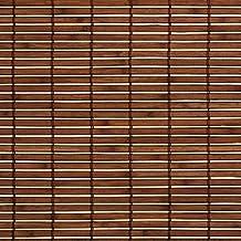 sombra fácil Persiana de madera persiana de madera con Cuerda x 100 170 cm / 100x170 cm en la Color marrón - Muebles De Bambú Rollo Para ventanas y Puerta - Lado de funcionamiento derecha