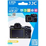 JJC LCP-Z7 2PCS PET Film Screen Protector Kit for Nikon Z7 Z6 Mirrorless Camera, includes 2pcs Protectors for Shoulder Screen