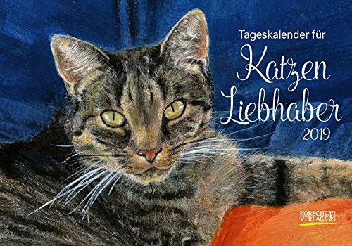 Tageskalender für Katzenliebhaber 2019: Tages-Aufstellkalender