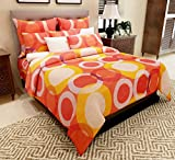 #10: Home Candy 144 TC Circles Cotton Double Bedsheet with 2 Pillow Covers - Multicolor (CTN-BST-276)