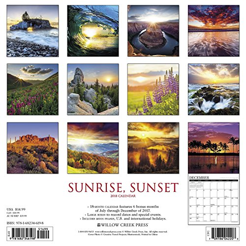 Sunrise, Sunset 2018 Calendar