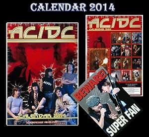 AC/DC KALENDER 2014 + AC/DC Vorsicht Türschilder