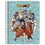 Clairefontaine 812799C - Un cahier de textes à spirale Dragon Ball Super 17x2 2cm 152 pages grands carreaux, visuel aléatoire