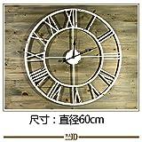 Wall Clock WERLM Personalisiertes Design Home Dekorative Wanduhr Kunst Uhr Garten Rund Weiß Retro die Alten Römischen Eisen Wanduhr mit Dem Home Office Küche Schulen Sind Ideal für Jeden Raum