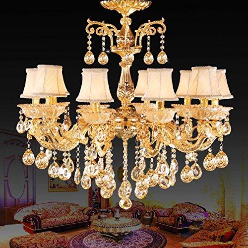 WEITING 10 Zinklegierung Lampen Schlafzimmer Wohnzimmer Esszimmer Dekoration kontinentalen warmen goldenen Kristallleuchter