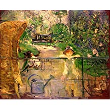 The Museum Outlet - Chair in the garden [2] by Morisot - Canvas (24 x 18 Inch)