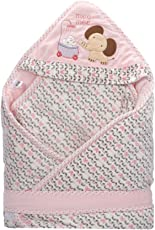 Mee Mee Cozy Cocoon Baby Wrapper with Hood, Pink