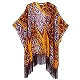 Women's Floral Aztec Leopard Light Chiffon Beachwear Cover-ups Kimono Cardigan Outfit Soul Young