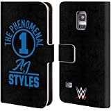 Official WWE The Phenomenal One Aj Styles Leather Book Wallet Case Cover For Samsung Galaxy S5 mini