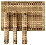 #5: HOKIPO® Bamboo Wooden Dinner Table Kitchen Placemats Set, 4 Pieces