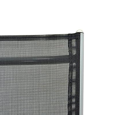 Klappstuhl Aluminium Gartenstuhl komfortbreite Alu Campingstuhl verstellbar schwarz Metall