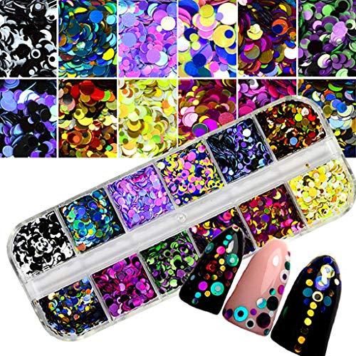 QUICKLYLY Uñas/Manicura-Consejos De Arte De Uñas Coloridas Pegatinas 3D Nail Maquillaje Con Láser Manicura Calcomanías De Bricolaje Decoración