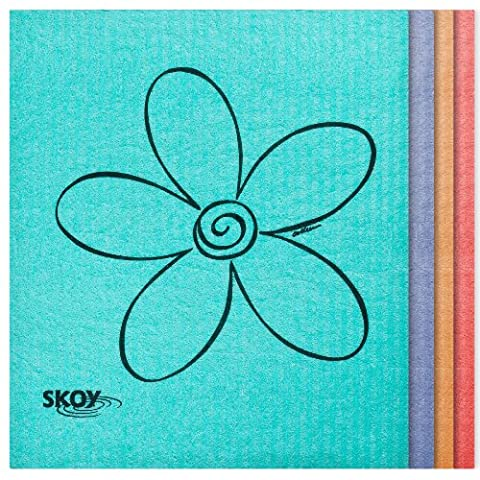 Skoy Cleaning Cloth Set Of 4 Eco Friendly Paper Towel Replacement Cloths