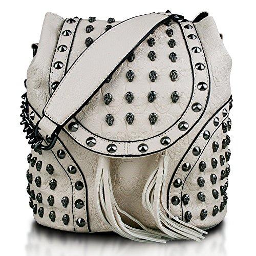 Miss Lulu L1414 - Bolso mochila  para mujer Beige beige
