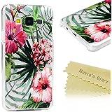Coque A3 2015 Mavis's Diary PC Rigide Fleur Dessin Housse de Protection Étui Téléphone Portable Phone Case Cover pour Samsung Galaxy A3 2015 + Chiffon