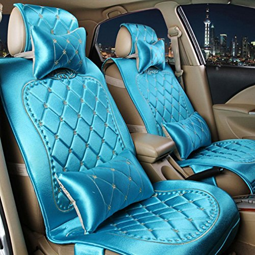 XH Vier Jahreszeiten Stoff Tag Seide Auto Kissen Sitzbezug , Blue,blue