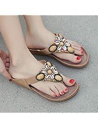 OME&QIUMEI Las Zapatillas De Playa Y Zapatillas De Mujer En La Playa En Verano 40 Albaricoque