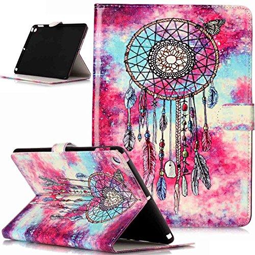 ikasus Coque iPad 9.7 Etui,Couleur peinte Papillon Fleur Marbre Housse Cuir PU Housse Etui Coque Portefeuille supporter Flip Case Etui Housse Coque,Plume de papillon Campanula