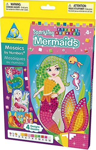 Preisvergleich Produktbild Orb Factory 621008 - Sticky Mosaics Sparkling Mermaids