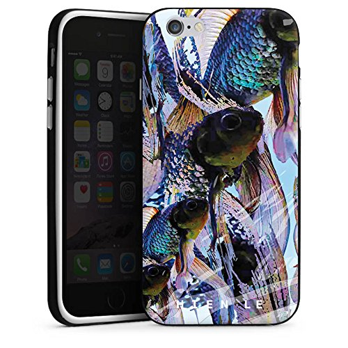 Apple iPhone 5s Housse Étui Protection Coque HIEN LE Fashionweek Poissons Housse en silicone noir / blanc