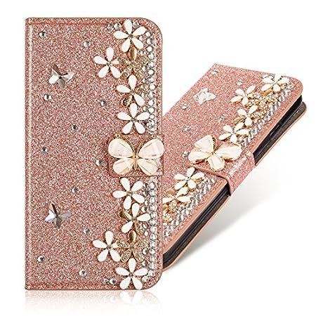 Magnetverschluss Bookstyle für Huawei Y6 2019 /Honor 8A,Diamond Sparkle Funkeln Bling Glitter Glitzer Ledertasche Stand…